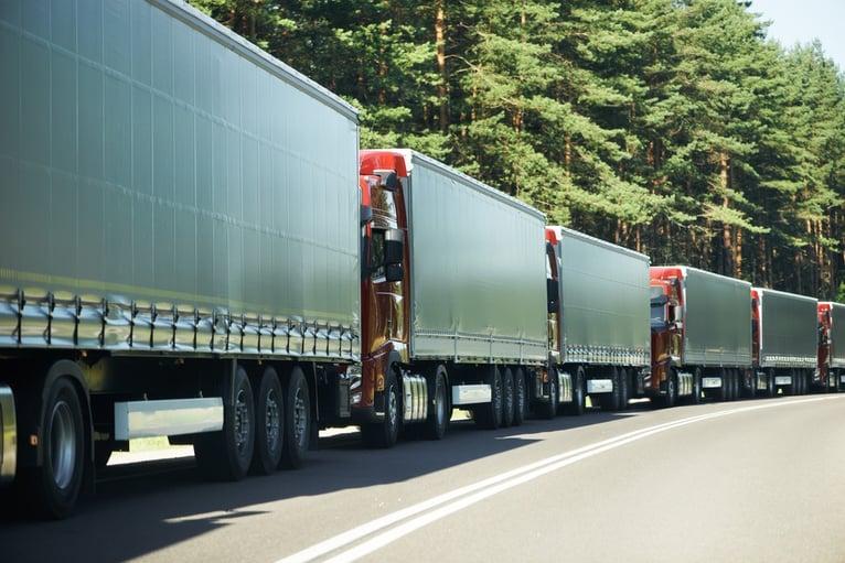 Self-driving truck platoon